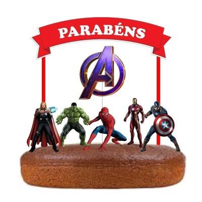 Topo Bolo Avengers