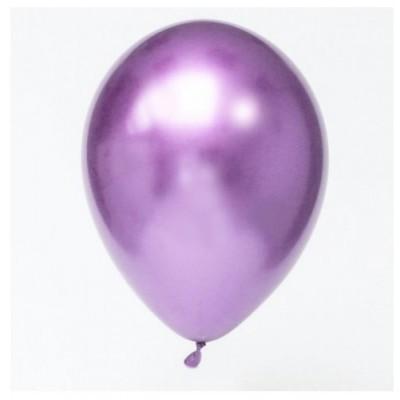 Balão Cromado Roxo 30cm