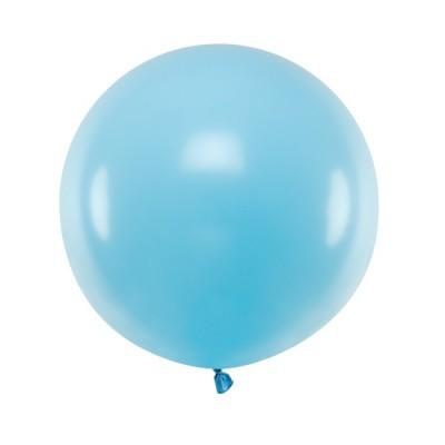 Balão Azul Claro Pastel 60cm Grande
