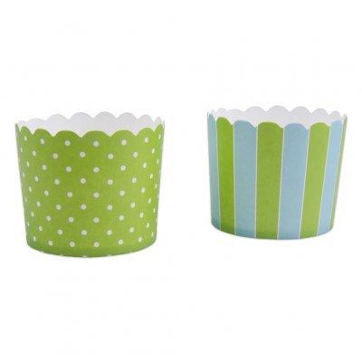 Conj. 12 Formas Riscas e Bolinhas Verde e Azul