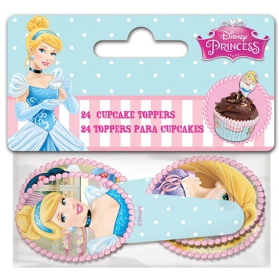 Conj. 24 Toppers Princesas Disney