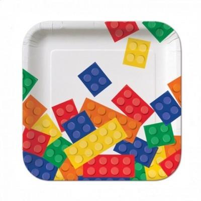 Pratos Lego Quadrados Pequenos