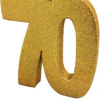Decoração 70 Glitter Dourado