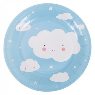 Pratos Nuvem Azul Grandes