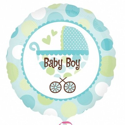 Carrinho Bebé Menino Balão Médio