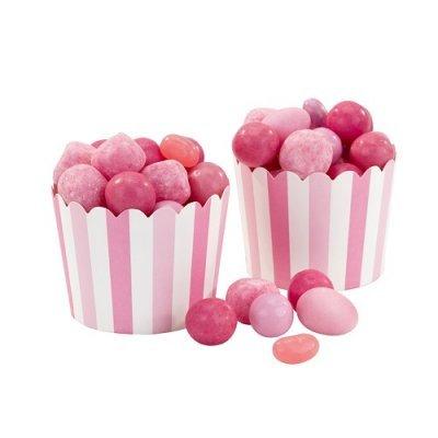 Conj. 20 Taças Riscas Rosa e Rosa Claro