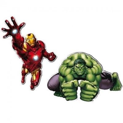 Conj. 2 Figuras Vingadores 1
