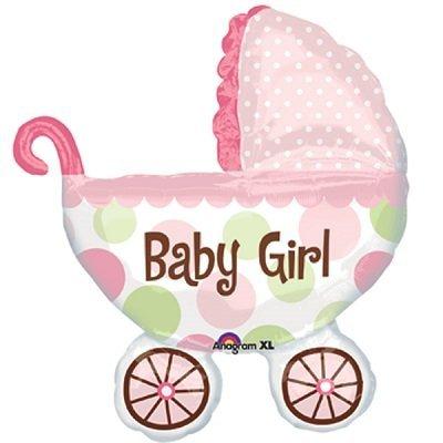 Carrinho Bebé Menina Balão Grande