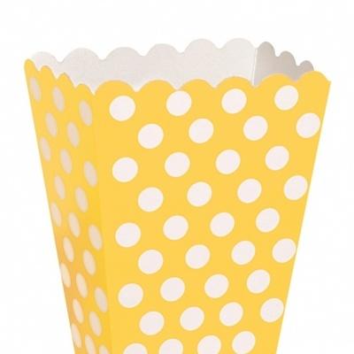 Pacote Pipocas Bolinhas Amarelo