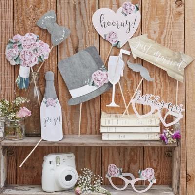 Adereços Fotografias Casamento Rustico