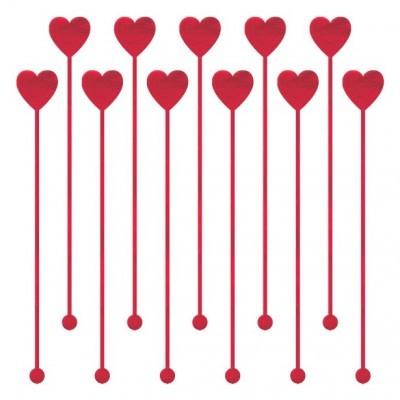 Palitos Altos Coração Vermelho