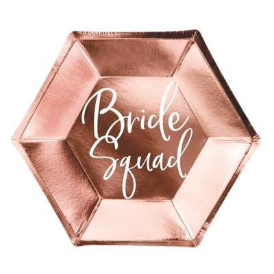 Pratos Bride Squad Rose Gold