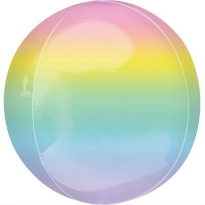 Balão Orbz Ombre Rainbow Pastel