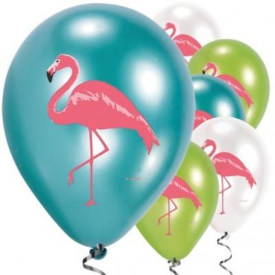 Conj. 6 Balões Flamingo Paradise