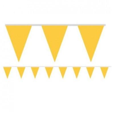 Bandeirolas Papel Amarelo Lisas