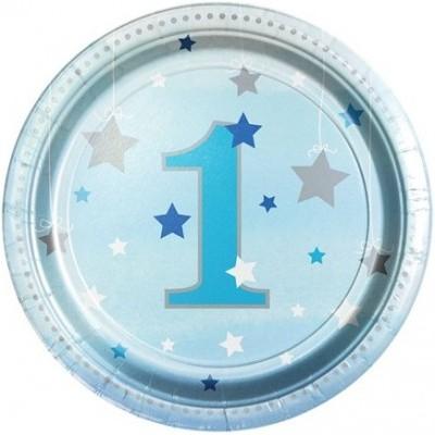 Pratos 1º Aniversário Estrela Azul