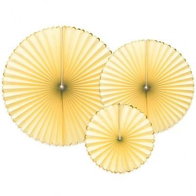 Rosetas Amarelo Claro Conj. 3