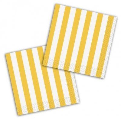 Guardanapos Amarelo Riscas