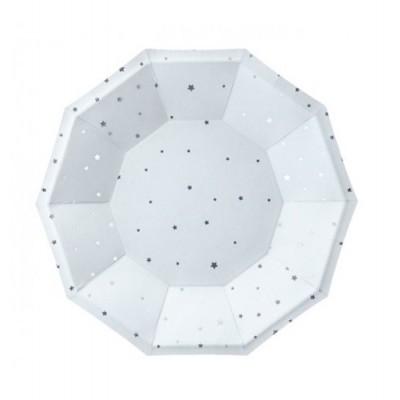 Pratos Azul Estrelas Prata
