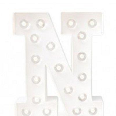 Letra Luminosa N