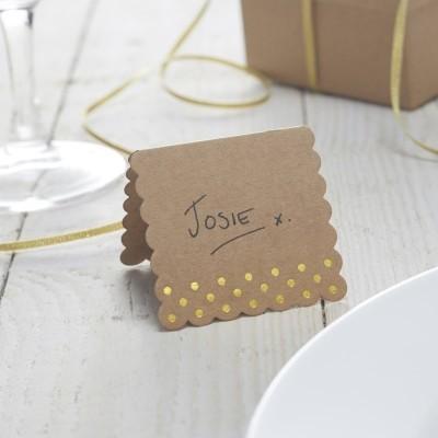 Cartões Marcadores Craft Bolinhas Douradas