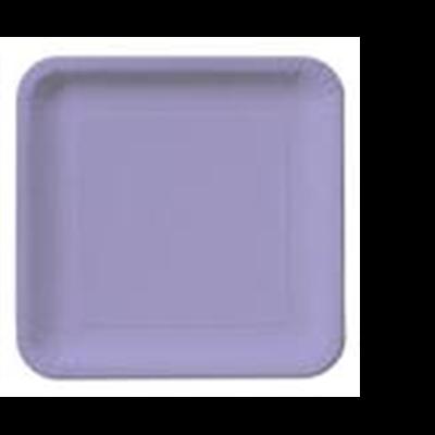 Pratos Lilás Quadrados