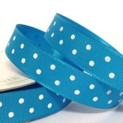 Fita Azul Turquesa Cetim Bolas 10mm