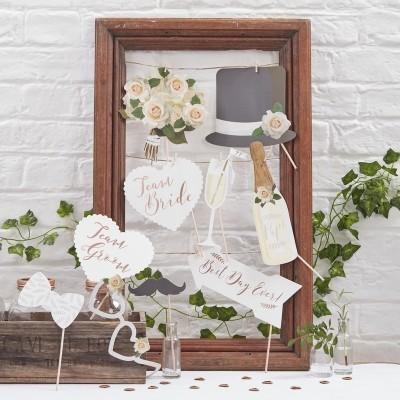 Adereços Fotografias Casamento Branco