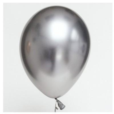 Balão Cromado Prata 30cm