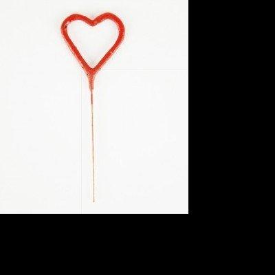 Vela Sparkles Coração Vermelho