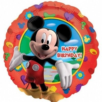 Mickey Vermelho Balão Médio