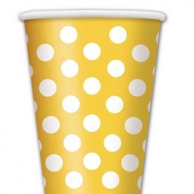 Copos Amarelo Bolas