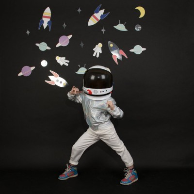 Decoração Papel Astronauta e Espaço