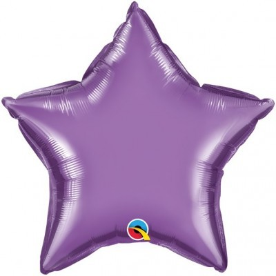 Balão Estrela Lilás Cromado