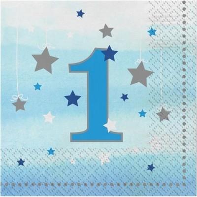 Guardanapos 1º Aniversário Estrela Azul
