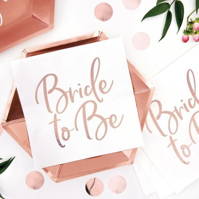 Guardanapos Bride to Be Rose Gold