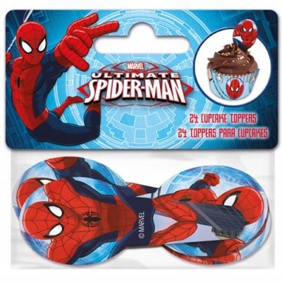Conj. 24 Toppers Homem-Aranha