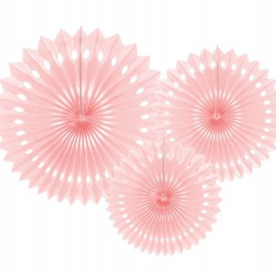 Rosetas Rosa Pastel Conj. 3