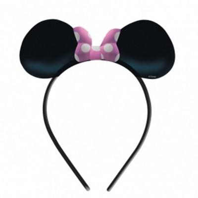 Orelhas Minnie com Laço Rosa