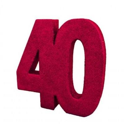 Decoração 40 Glitter Vermelho
