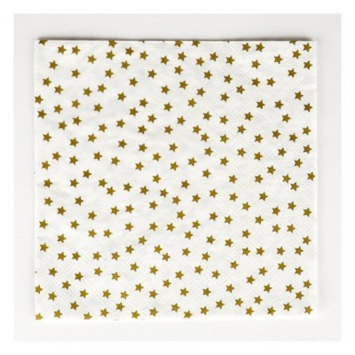 Guardanapos Dourados Estrelas