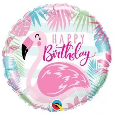 Flamingo Balão Happy Birthday