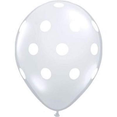Conj. 6 Balões Bolinhas Transparentes