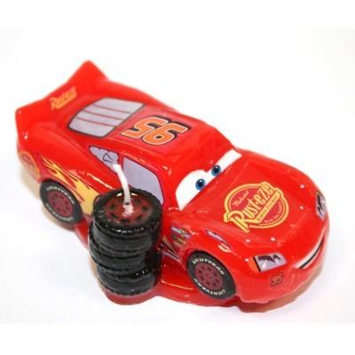 Vela Figura Faísca Cars 3D