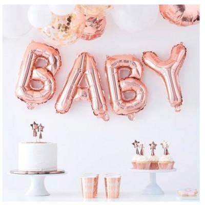 Balões Baby Rose gold