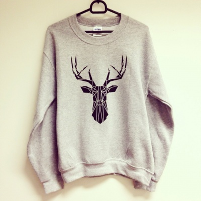 Geometric deer sweater