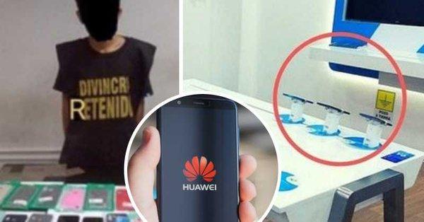 Assaltam loja de smartphones mas deixaram todos os Huawei