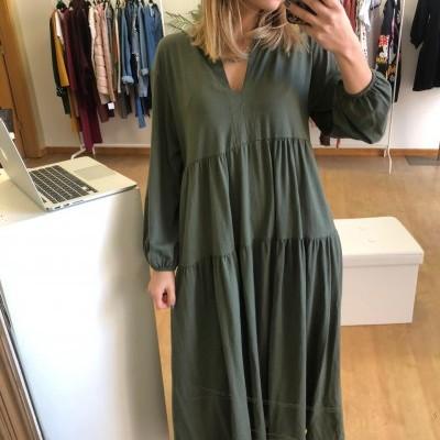 Vestido Longo Malha - Evasé