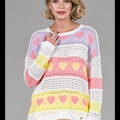 Camisola Corações Crochet RUGA