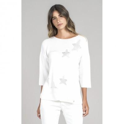 Camisola Perforado Estrelas RUGA
